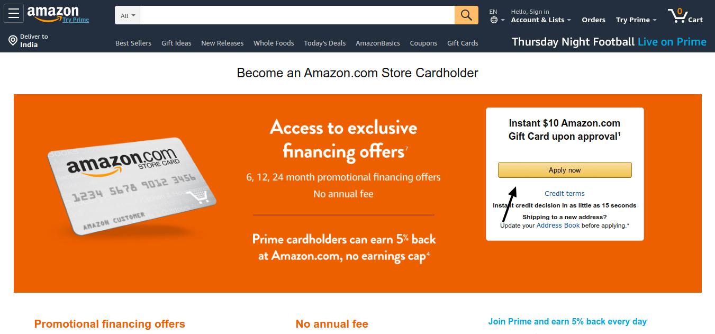 Amazon Credit Card Apply