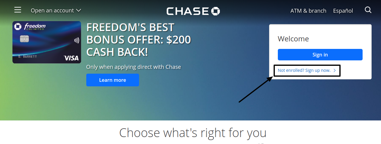 Chase Credit Card Sign Up