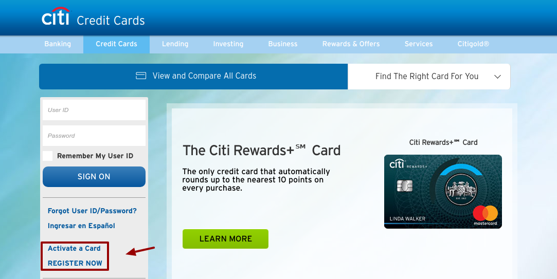 Citi Credit Cards Activate and Register