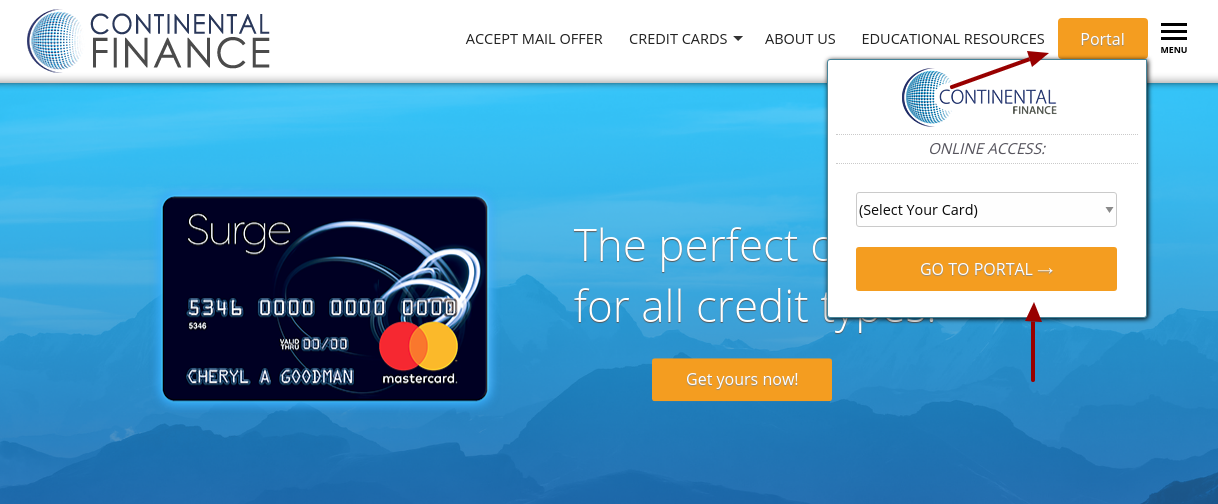 Continental Credit Card Login