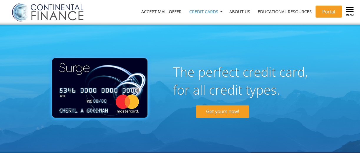 Continental Finance Credit Card Logo