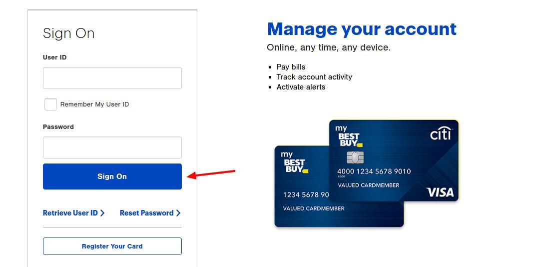 Best Buy Credit Card Log In