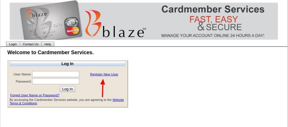 Blaze Mastercard Credit Card Register