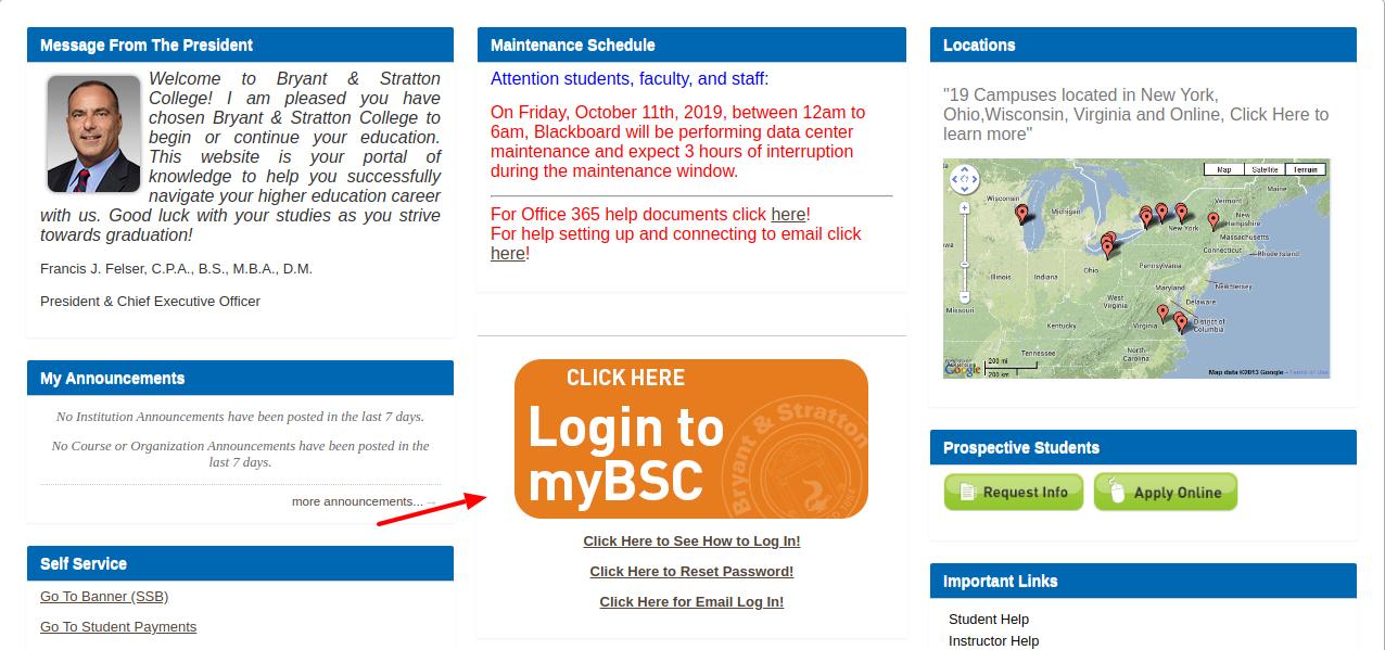 MyBSC Login