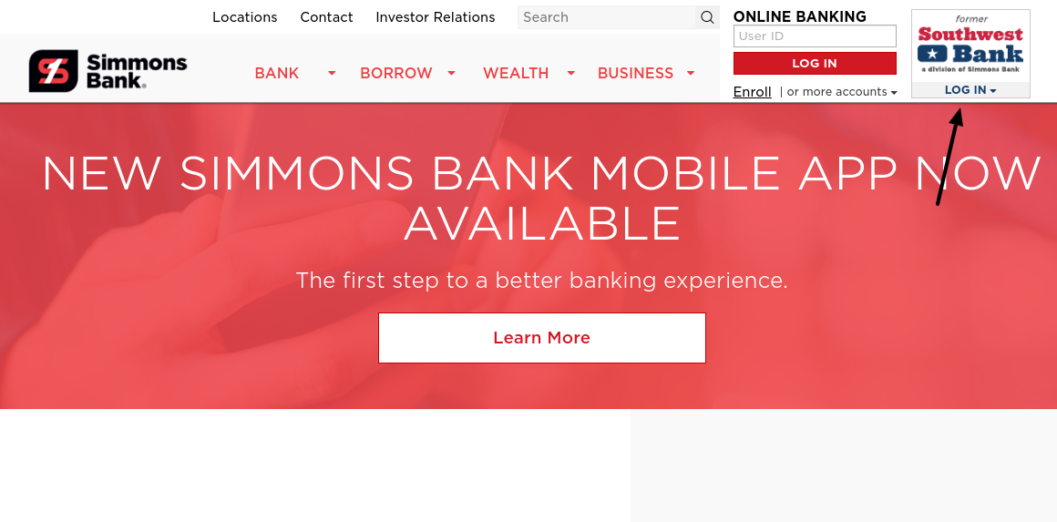 Simmons Bank Login