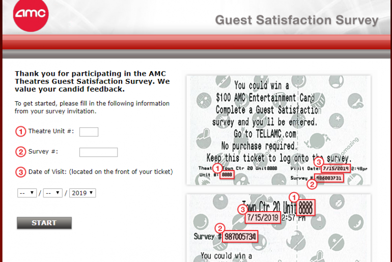 AMC Theatres Guest Satisfaction Survey