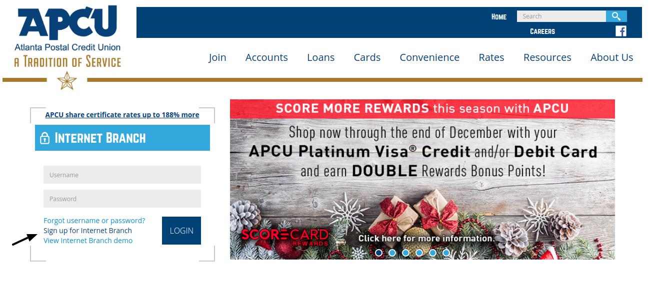 Atlanta Postal Credit Union Sign Up