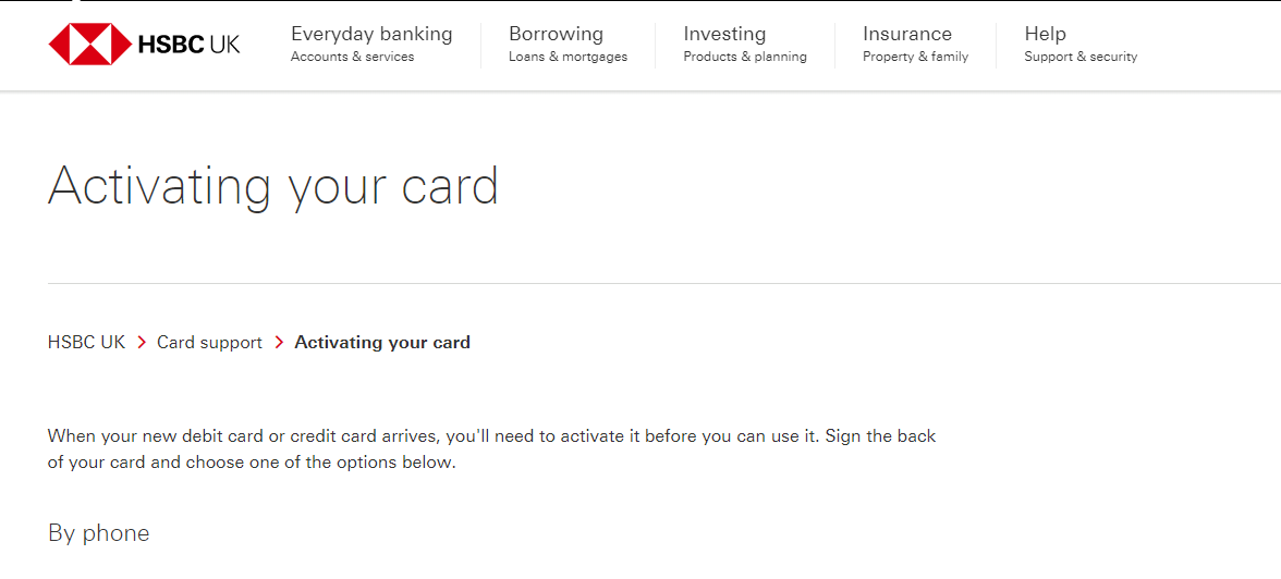 HSBC Card Activate