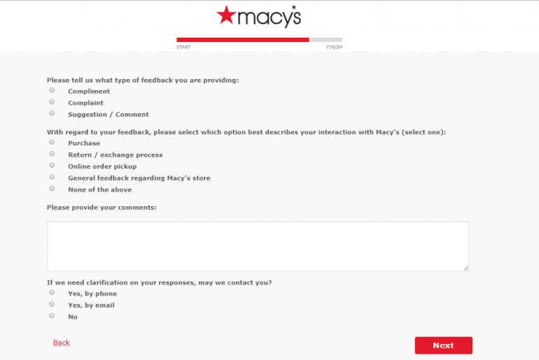 Macys Survey