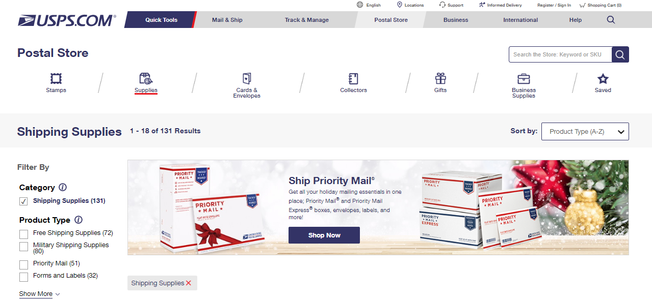 USPS Shipping Shops