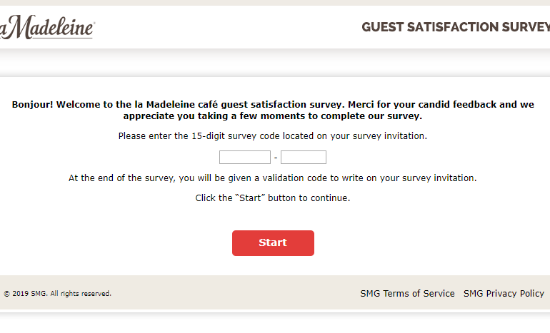 la Madeleine Guest Satisfaction Survey