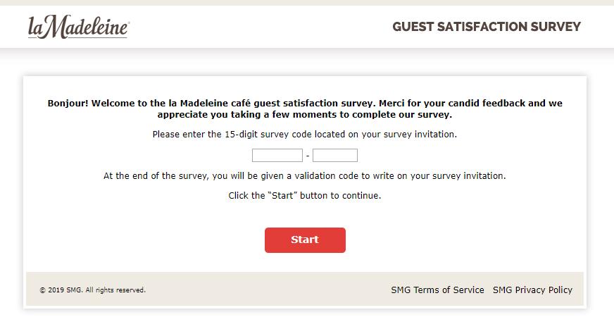 la Madeleine Guest Satisfaction Survey