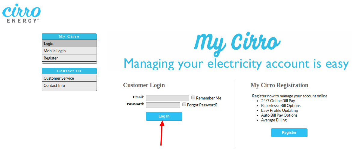 Cirro Energy Login