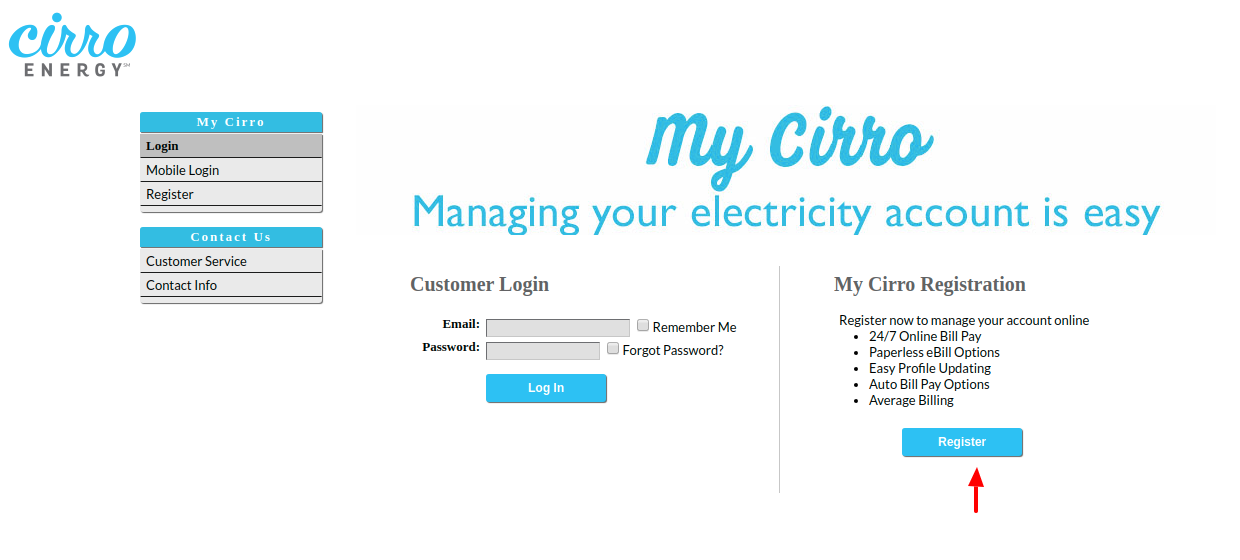 Cirro Energy Register