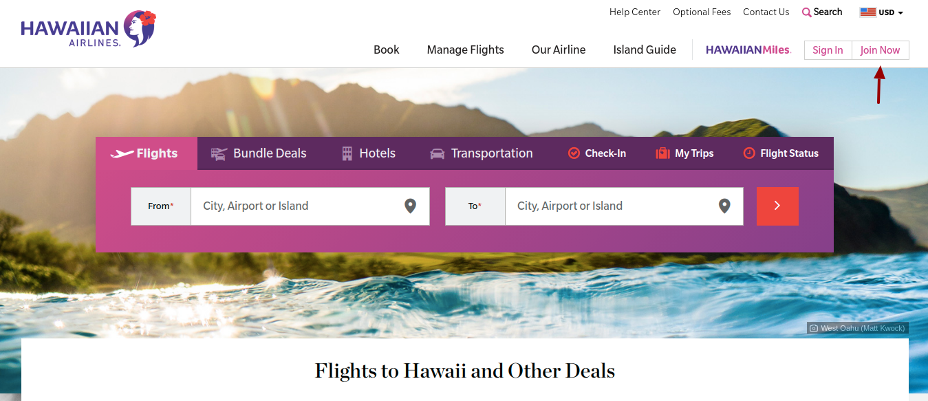 Hawaiian Airlines Create Account