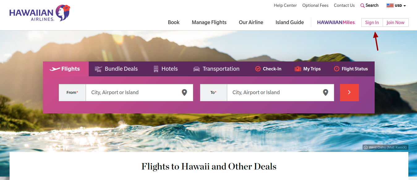 Hawaiian Airlines Sign In