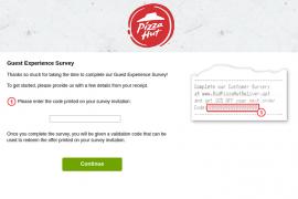 Puzza Hut Survey