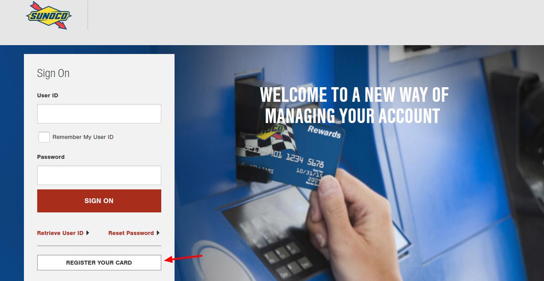 Sunoco Rewards Card Register