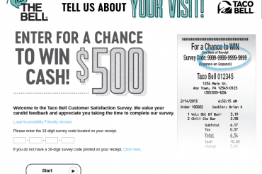 Taco Bell Customer Satisfaction Survey
