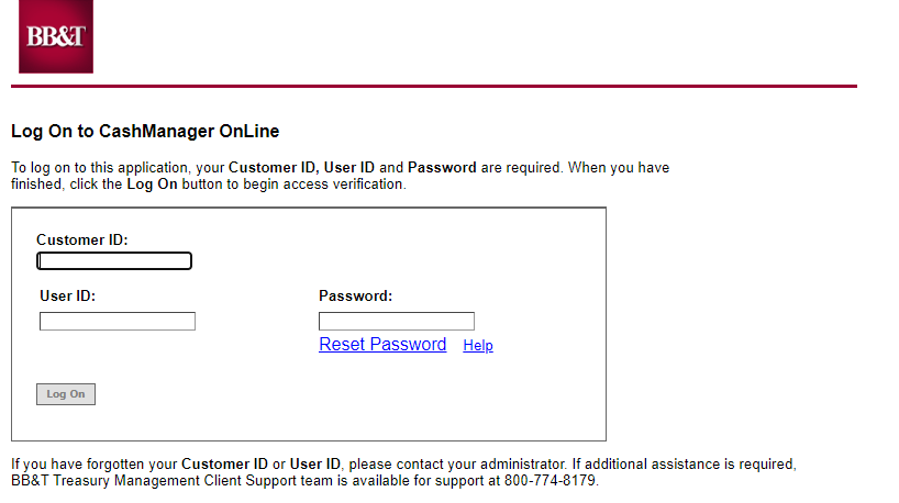 cashmanager online login
